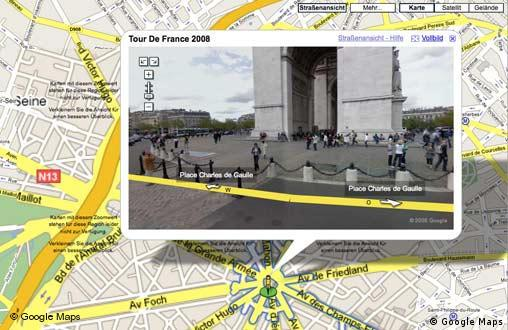 Google Street View Ansicht bei Google Maps vom Place Charles de Gaulle in Paris (Foto: Google Maps)