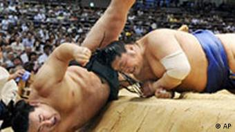 Japanese sumo fighters