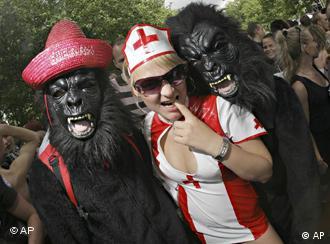 Techno fans at the Dortmund love parade