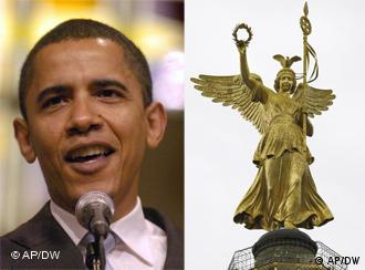 Obama, Berlin's Victory Column