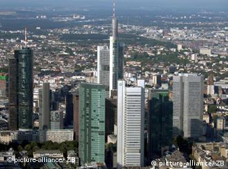 Небоскребы банков во Франкфурте