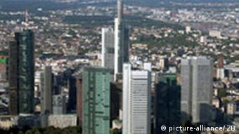 Banking district in Frankfurt