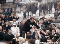 Richard Nixon durante una visita en Alemania.