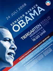 Poster for Obama speech