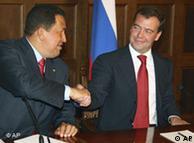 Hugo Chávez y el presidente ruso, Dmitri Medvédev.
