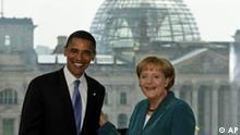 Bildgalerie Obama in Berlin Händedruck mit der Kanzlerin