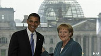 Barack Obama with Angela Merkel