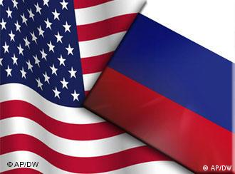 US and Russian flags