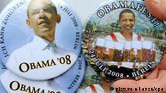 German-themed Obama buttons
