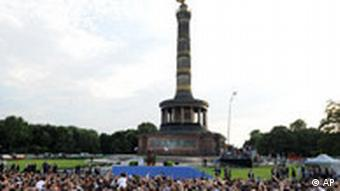 Obama in Berlin - Rede Siegessäule