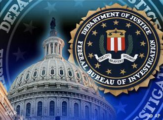 FBI seal over US Capitol dome, partial graphic