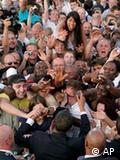 Ενθουσιώδης υποδοχή του Ομπάμα το καλοκαίρι του ΄08 στο Βερολίνο