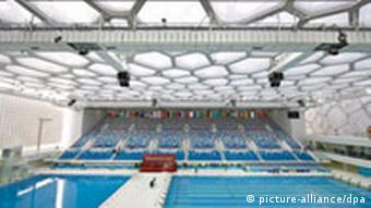 Bildgalerie Olympiaarchitektur China Architektur Peking Olympia 2008 Nationales Schwimm-Zentrum in Peking