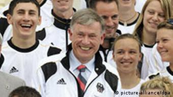 German Olympic team with President Horst Koehler