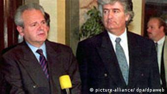 Karadzic und Milosevic (Foto: dpa)