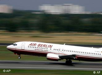 An Air Berlin jet takes off