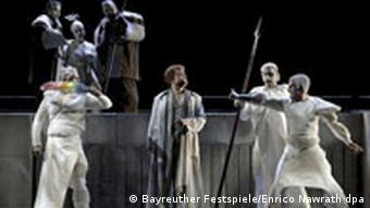 A scene from Rheingold in Bayreuth