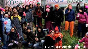 Proteste gegen den Abriss. Quellle: Margret Thieme, Gemeinschaftsgarten Rosa Rose