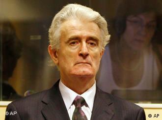 Гаага, 31 июля 2008 года. Радован Караджич впервые предстал перед судьями Международного трибунала