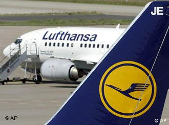 Lufthansa planes at the Tegel airport in Berlin
