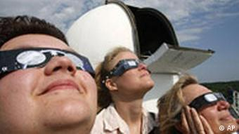 People wearing protective sunglasses