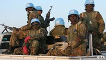 Nigerian peacekeepers in Darfur. Photo, (AP Photo/Alfred de Montesquiou)