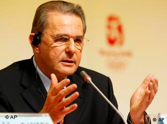 Jacques Rogge, head of the International Olympics Committee