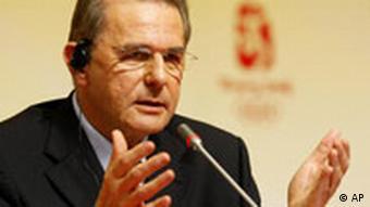 Der Präsident des IOC Jacques Rogge