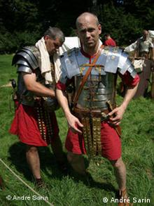 Men in Roman costumes