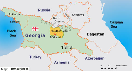 Analysis South Ossetian Conflict Will Cost Russia Dearly Europe - South ossetia map