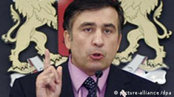 Saakashvili givinga speech