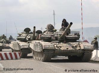 Грузинские танки в зоне конфликта