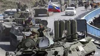Russland Panzer rollen nach Georgien