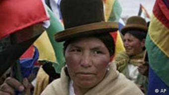 Die indigene Bevölkerung hofft auf Reformen (02.08.2008, AP)