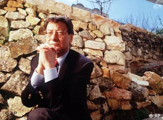 Palestinian poet Mahmoud Darwish in an undated file photo.