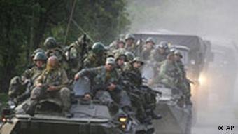 Russian troops in Abkhazia