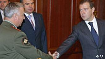 Medwedew stoppt Militäraktionen in Georgien