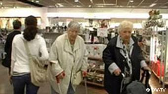 Older people shopping in Hertie