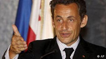 Georgien EU Frankreich Nicolas Sarkozy in Tiflis