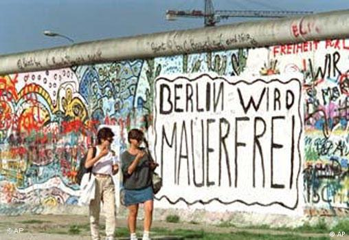 A portion of the Berlin Wall, seen from former West Berlin