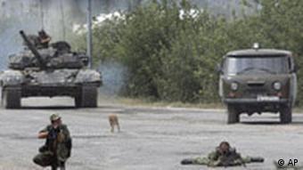 Kaukasus Konflikt August 2008 Russen ziehen aus Gori ab