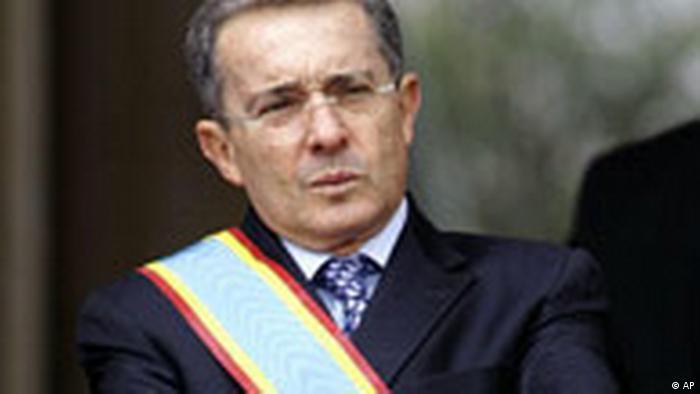 Kolumbien Präsident Alvaro Uribe