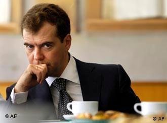 El presidente ruso, Medvedev, en foto de archivo.