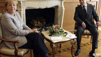 German Chancellor Angela Merkel with Russian President Medvedev