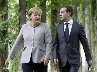 Ангела Меркель и Дмитрий Медведев