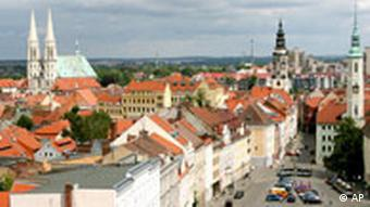 View of Görlitz's restored old world inner city