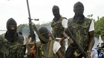 Members of Movement for the Emancipation for the Niger Delta, (MEND) (AP Photo/George Osodi)
