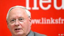 Oskar Lafontaine, Fraktionsvorsitzender von der Linkspartei, Die Linke