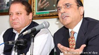 Nawaz Sharif und Asif Zardari (Quelle: dpa)