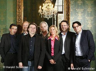 Members of the jury of the 2008 German Book Prize
